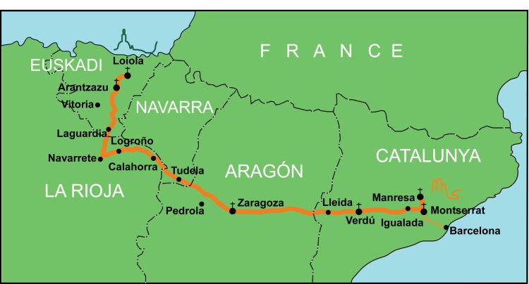 The Camino Ignaciano (click image to enlarge)
