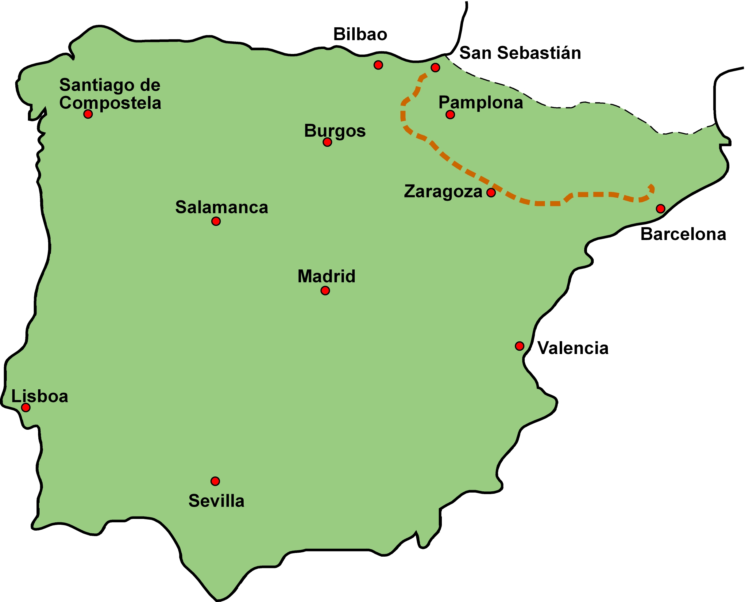 Loyola Spain Map.Itinerary And Maps Walking With Inigo The Ignatian Camino