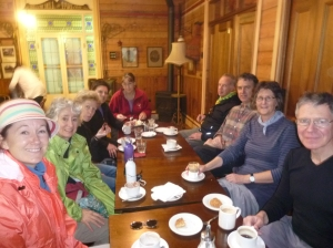 Jan Sebastian, Kay Quisenberry, Helen Lucas, Dani Chamberlin, Geraldine Naismith, Patrick Hynes, Stephen Delbridge, Jan Fitzgerald and Michael Bertie at the Fairfield Boathouse
