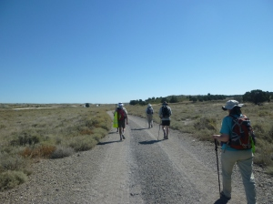 A desolate section of the Ignatian Camino