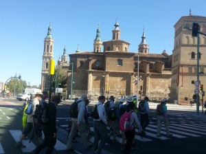 Arriving in Zaragoza