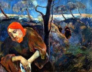 The Agony in the garden by Gaugin