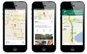 Google Maps can be downloaded from Apple's App Store, available for both the iPhone and iPad.
