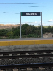The Alcanadre railway station where we met the bus