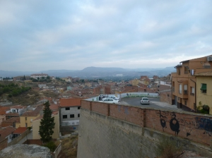 Looking back over Fraga early in the morning