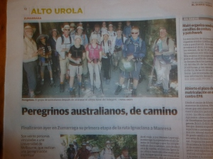 The article in the Spanish language newspaper