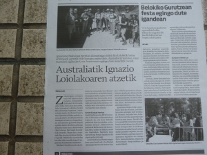 The article in the Basque language newspaper