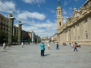 Outside the Basilica El Pilar