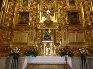 The side altar at San Miguel Collegiate Church