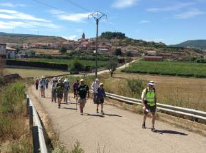Leaving Navarrete for Logroño in the hot afternoon sun