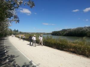 Rejoining the Ebro River just outside Zaragoza