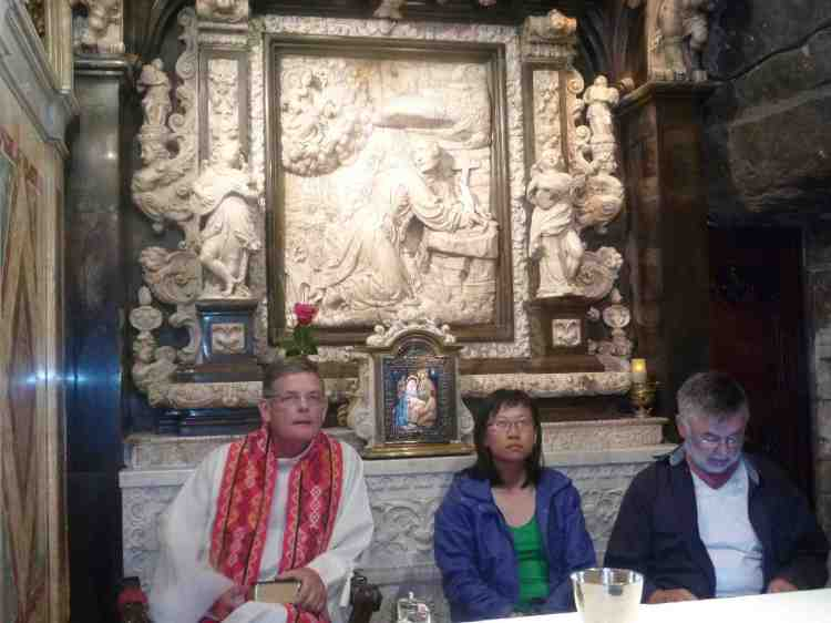 Mass in the cave at Manresa