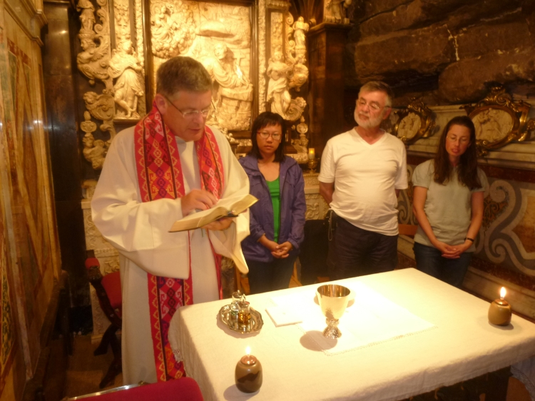Mass in the cave