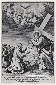 Ignatius' vision of Jesus carrying his cross