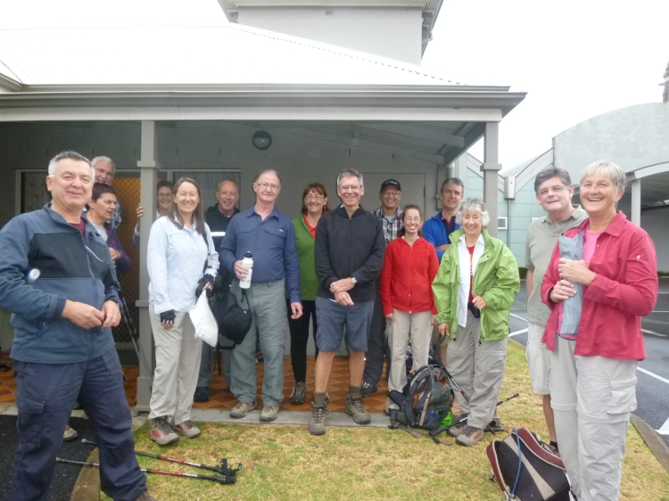 Photo of the group outside the presbytery