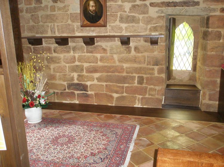 The place where Ignatius slept (on the floor of course!) during his stay