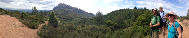 A panoramic view of Montserrat