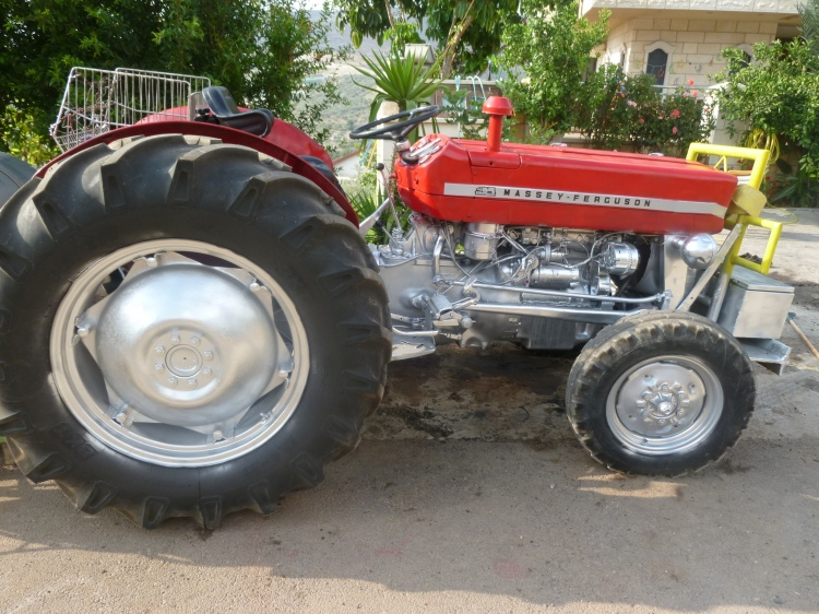 A spruced-up Massey Ferguson tractor on the outskirts of Cana like the ones I remember the dairy farmers driving in Eltham