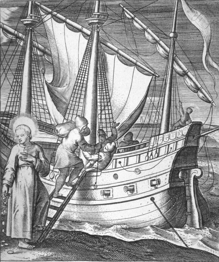 Reuben depiction of Ignatius boarding the ship in Venice for the Holy Land