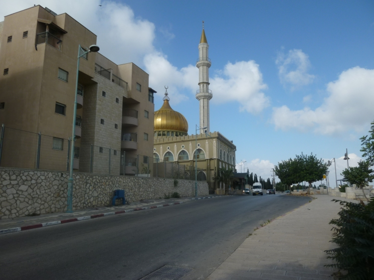 A Mosque at the top of the hill on the outskirts of Nazareth