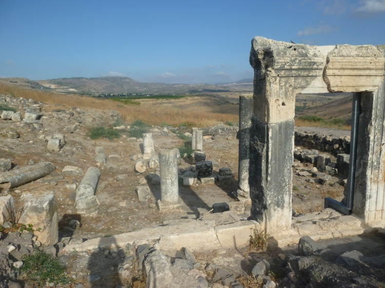 The ruins of an ancient synaogue at Arbel