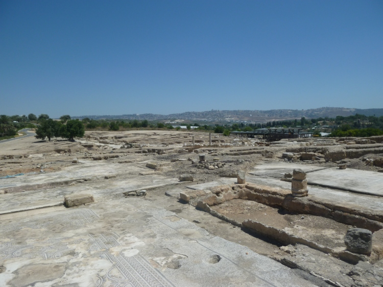 The site of Archeological excavations at Sepphoris