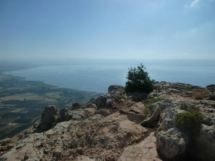 The Sea of Galilee from the top of Mount Arbel