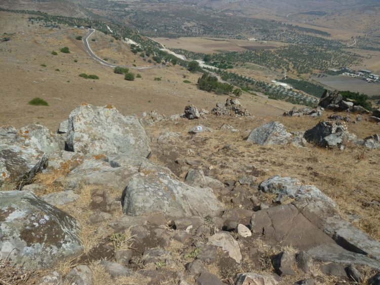 The steep descent from the Horns of Hattin
