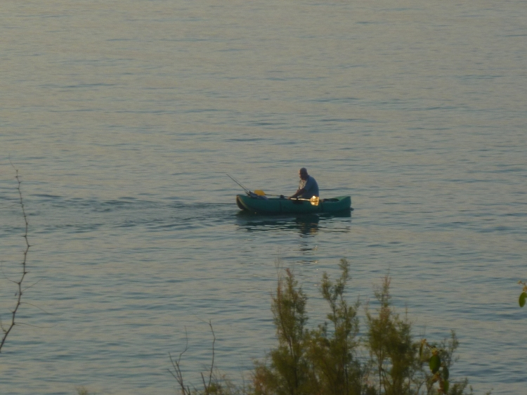 A fisherman on the Sea of Gililee