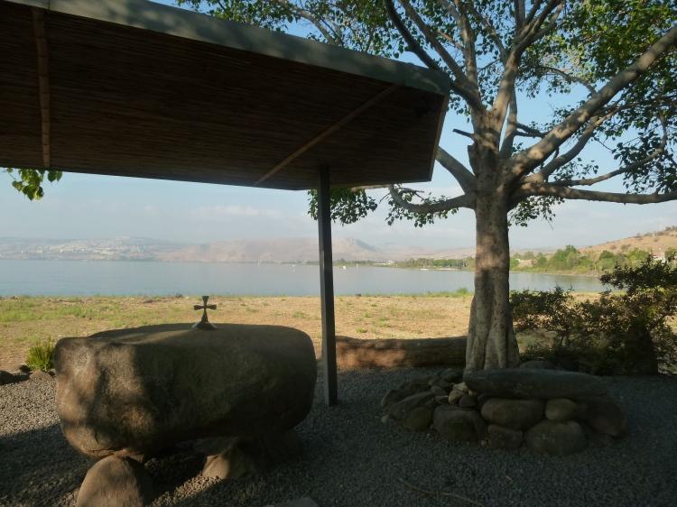A stone altar at Tabgha
