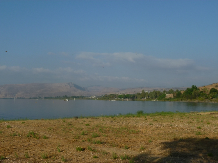 Another view of Mount Arbel across the lake