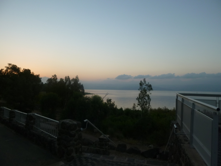 Early morning on the Sea of Galilee