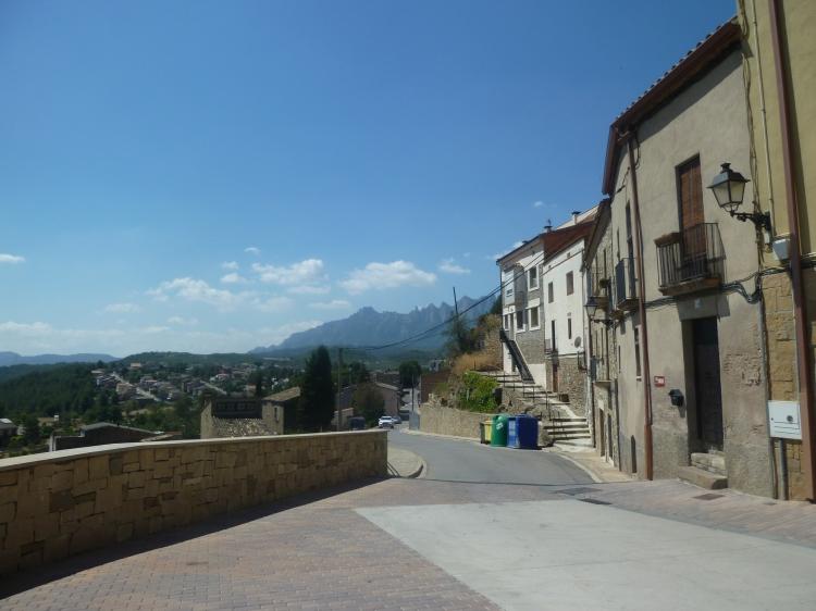 Looking back at Montserrat from Castellgali