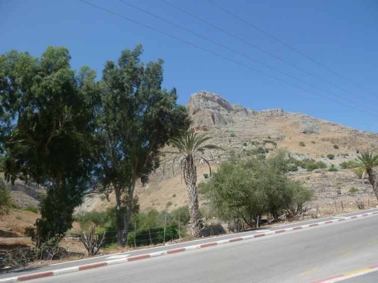 Looking back at the mountain I have just descended from Wadi Hamam