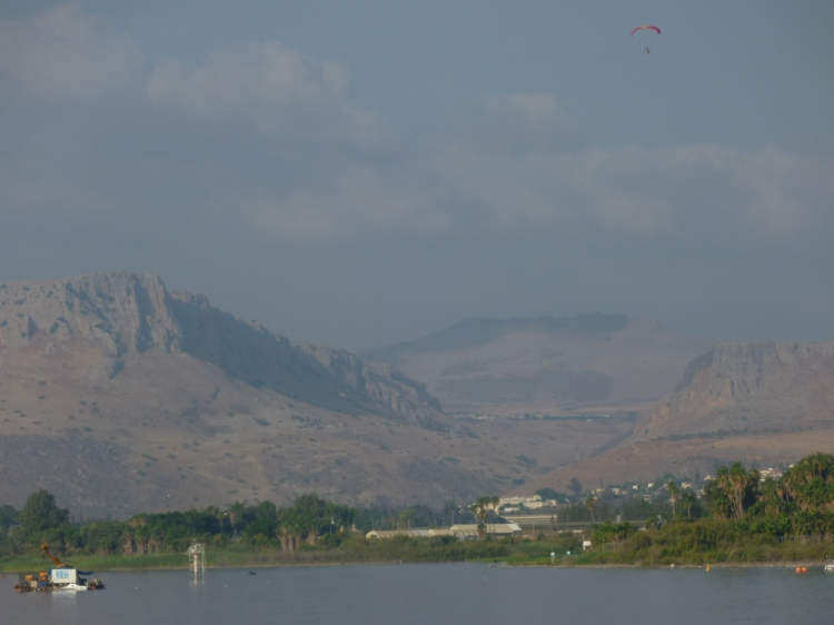 Mount Arbel with the Horns of Hattin behind
