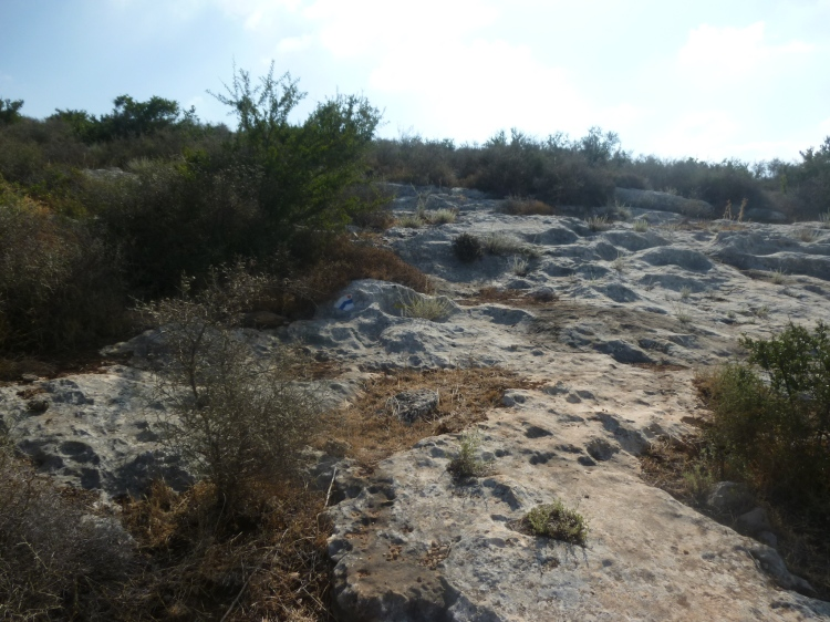Rocky terrain on the Jesus Trail