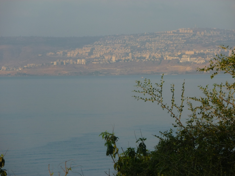 Tiberias on the other side of the lake